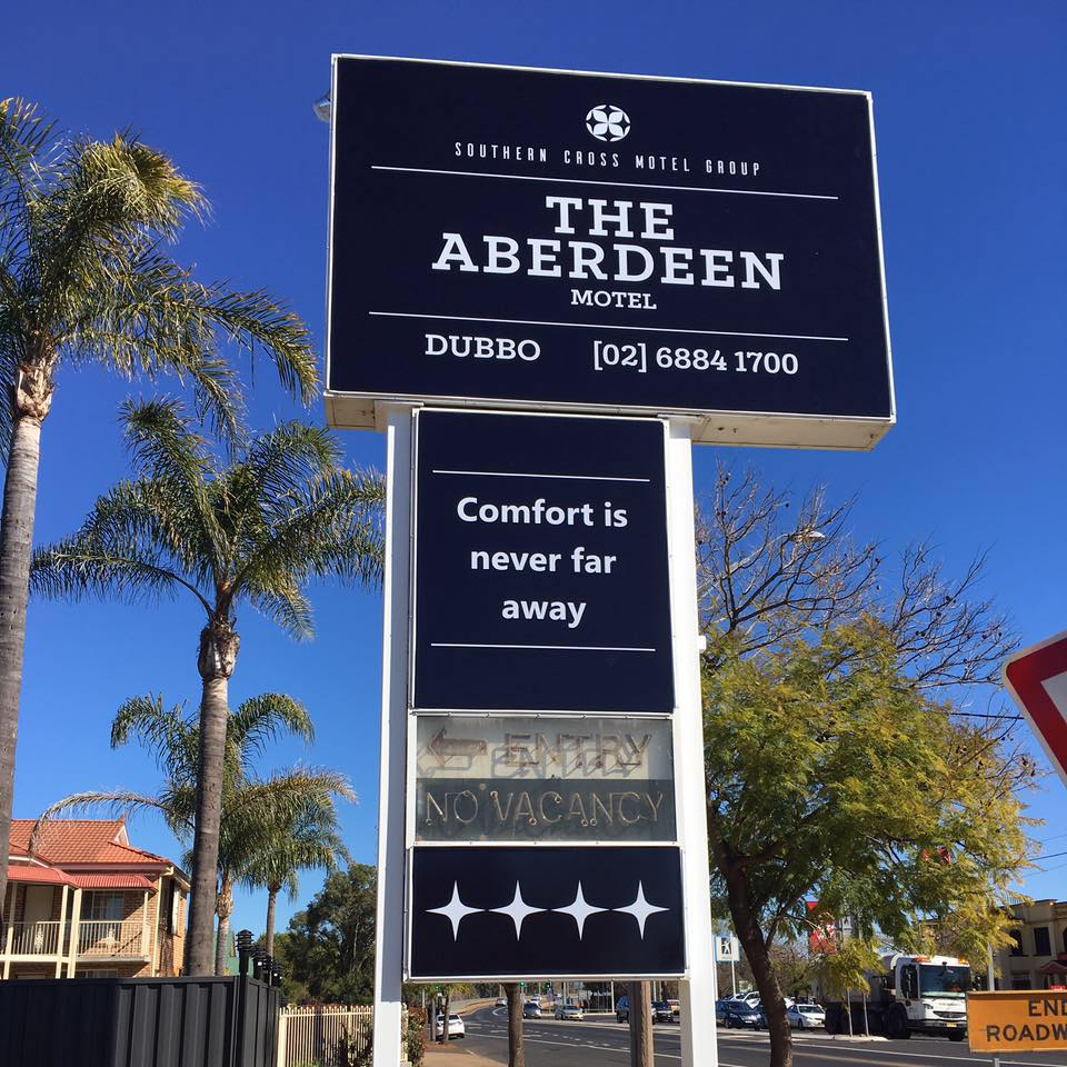 The Aberdeen Motel is a great place to stay with family in Dubbo if you're visiting the zoo and need accommodation