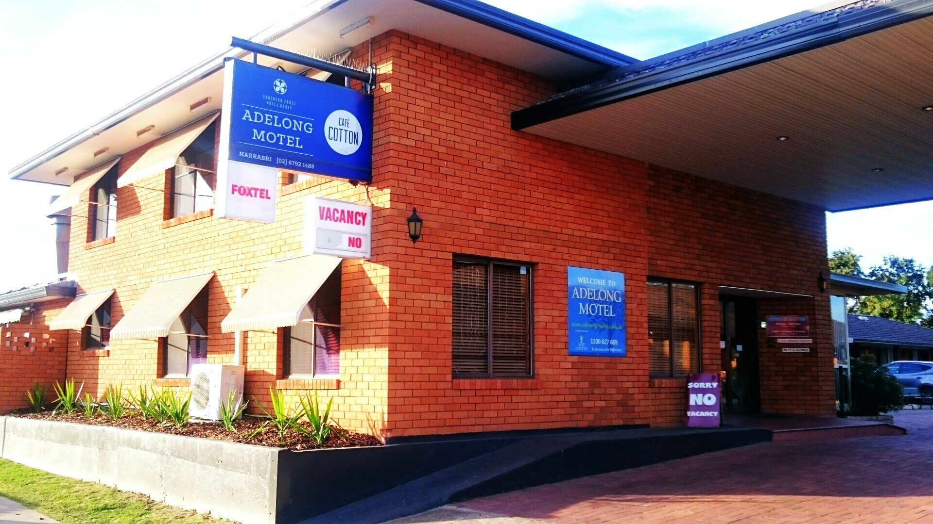 Narrabri Accommodation, the Adelong Motel reception is open from 8am to 8pm Monday to Saturday and 8:30am to 8pm on Sundays