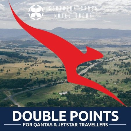 This summer the Southern Cross Motel Group are offering Double Points to Qantas and Jetstar Club members.